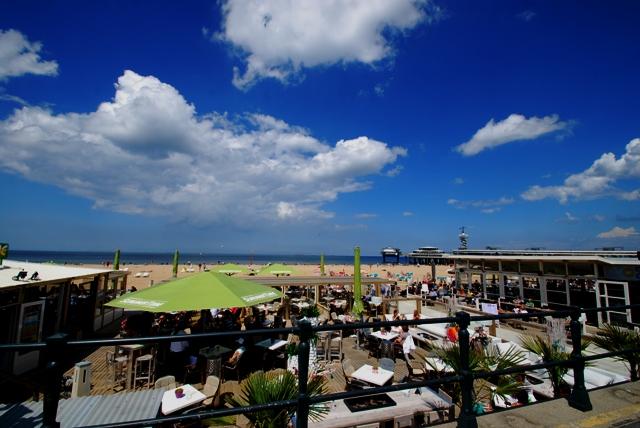 海辺で日光浴、オランダの定番